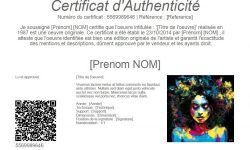creer un certificat d'authenticité